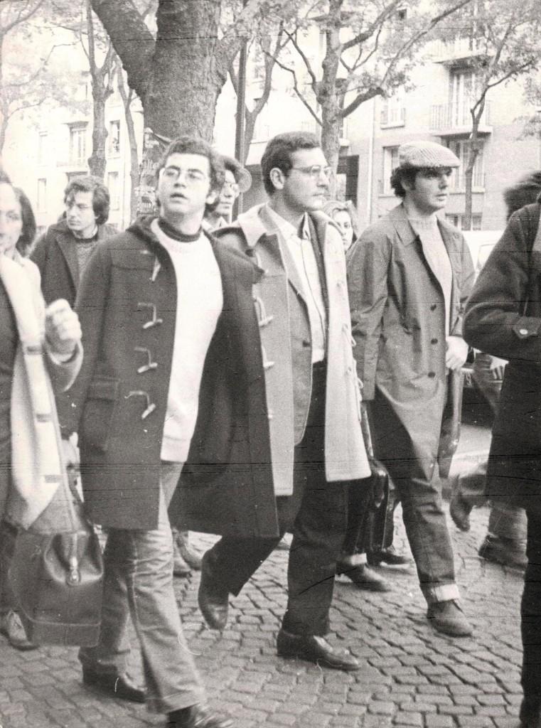 Roberto Franceschi in manifestazione a Parigi