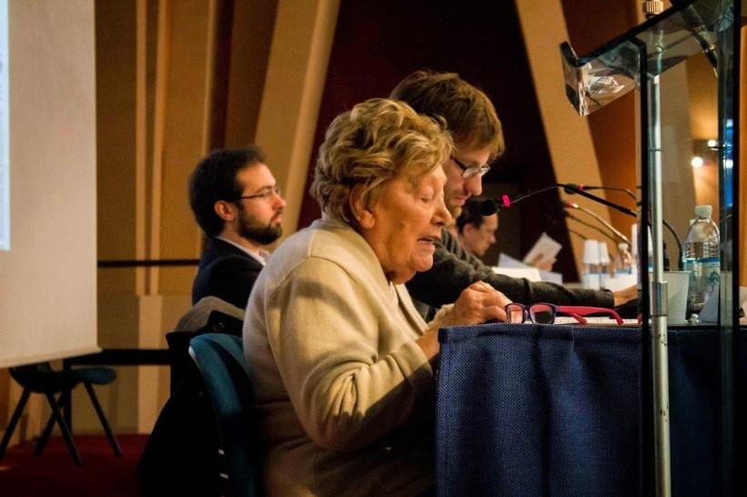 Lydia Franceschi interviene all'incontro La Costituzione siamo noi