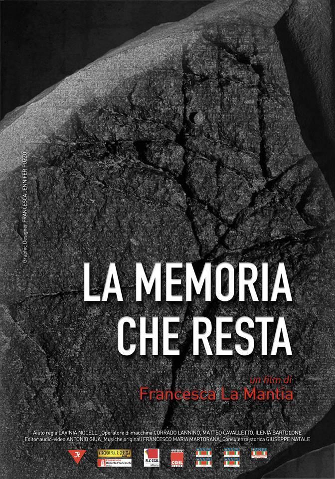 La memoria che resta - locandina