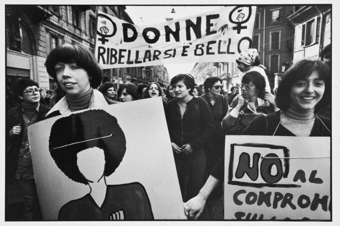 Carla Cerati - Milano marzo 1976 - Manifestazione a sostegno della legge per l'aborto