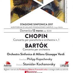 Chopin e Bartók – Concerto de laVerdi per la Fondazione Roberto Franceschi Onlus