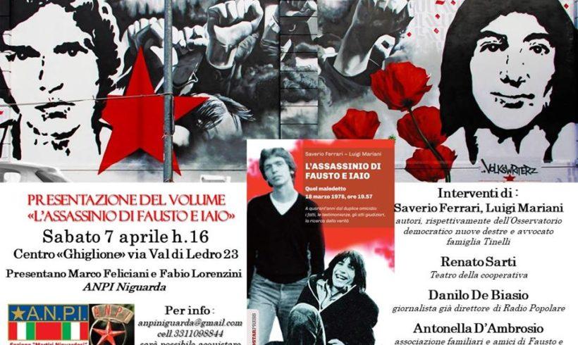 """Presentazione del volume """"L'assassinio di Fausto e Iaio"""""""