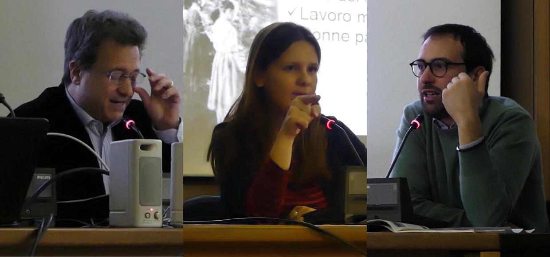 Da sinistra: Simone Campanozzi, Debora Migliucci e Alessandro Basilico