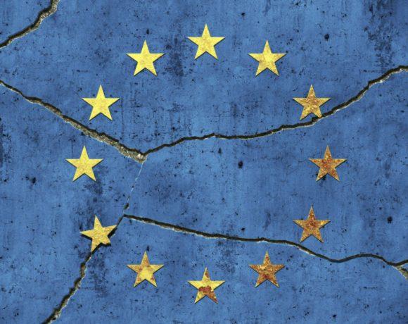 Europe / broken symbol on a wall