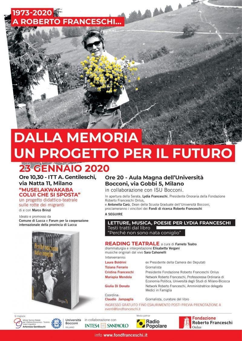 23 gennaio 2020 in ricordo di Roberto Franceschi
