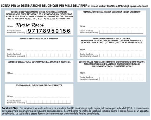 Come destinare il 5×1000 alla Fondazione Roberto Franceschi Onlus: C.F. 97178950156